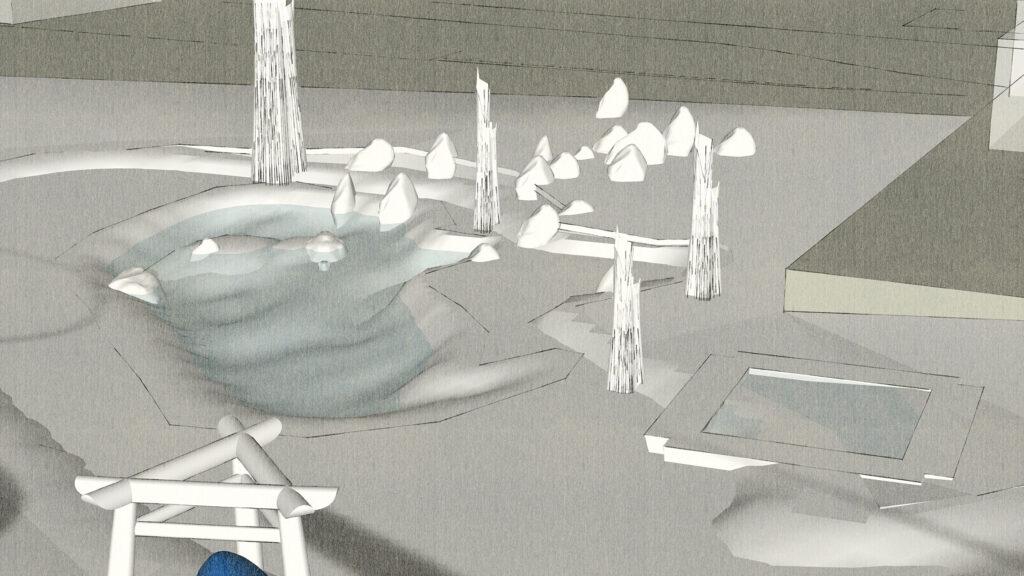 庭苑設計案 3rd 「実地設計」江戸池泉